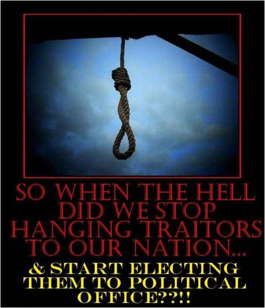 When the hell did we stop hanging traitors to our nation and start electing them to political office?  The minute Moscow Mitch McConnell, Leningrad Lindsey, and the rest of the Russian GOP's tucked their little dicks between their legs and started sucking on Traitor Trump's tiny dick.