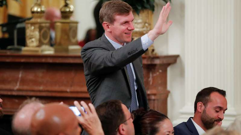 © Carlos Barria/Reuters James O'Keefe, the head of Project Veritas, last year at a White House social media summit
